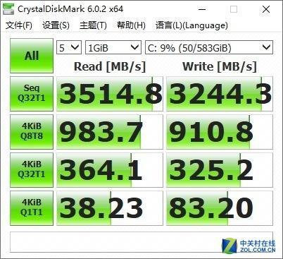 CrystalDiskMark跑分